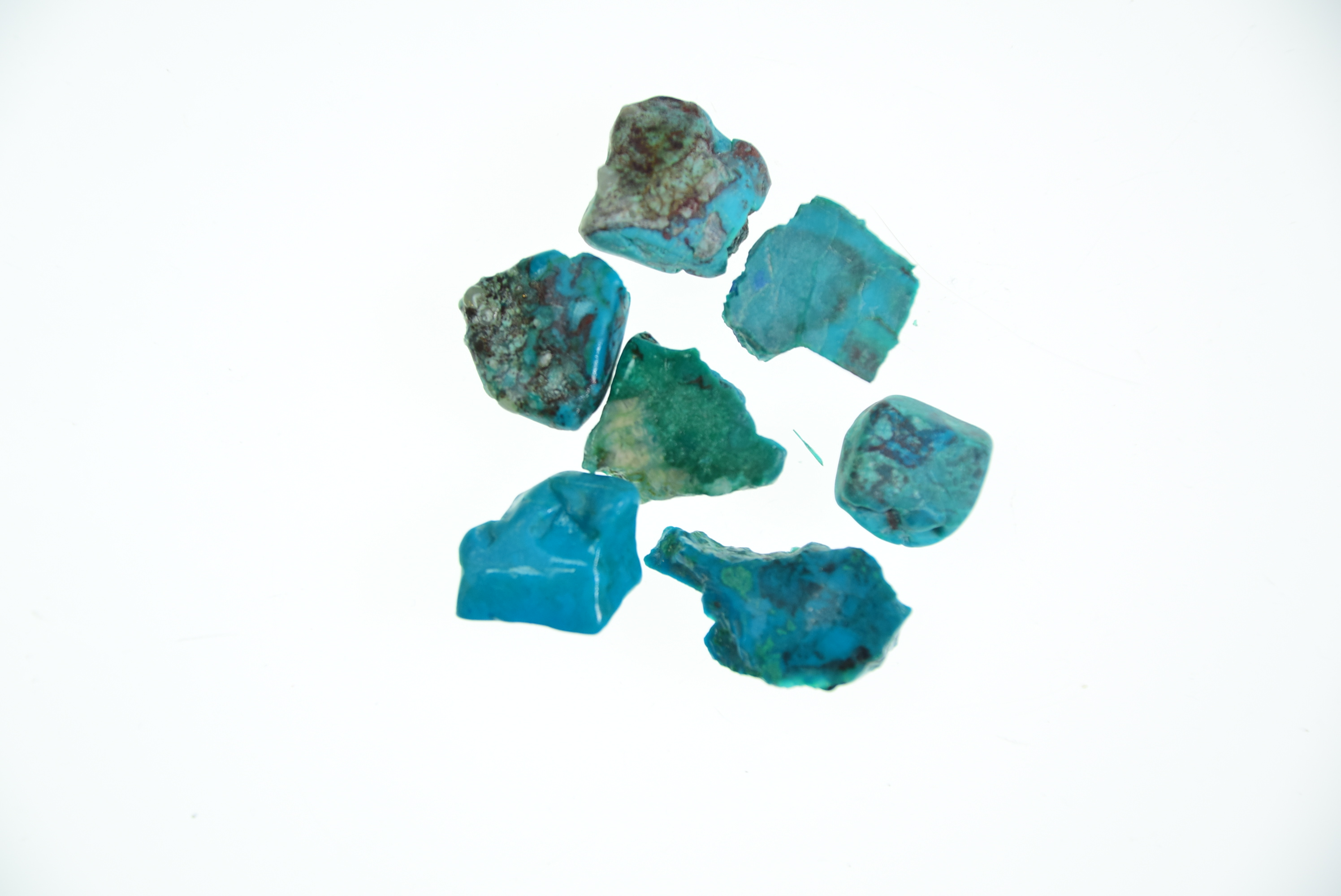 #4655 Chrysocolla (7 pieces - tumbled nuggetts)