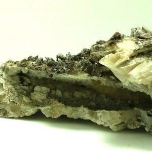 4007-Calcite - double terminated scalenohedral crystals qirh druzy pockets, Chuihuahua, Mexico