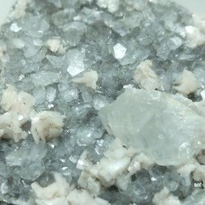 4009-Dolomite on Calcite, Harrodsburg, Indiana