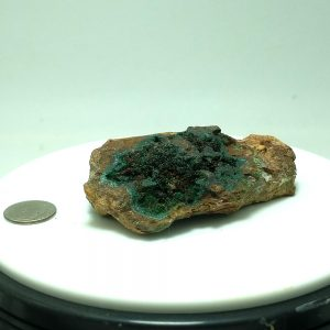 4012-Fibrous Malacite and Chrysocolla on Limonite, Mapimi, Mexico